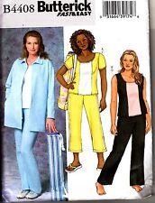 Butterick 4408 Womens JACKET TOP PANTS PURSE Plus Sz 18w-24w Very Easy Pattern