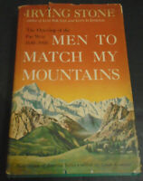 VINTAGE HCDJ BOOK 1956 MEN TO MATCH MY MOUNTAINS IRVING STONE