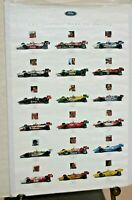 1995 INDY CAR SERIES POSTER FORD POWERED TEAMS TRACY GORDON HERTA INDY 24 X 36