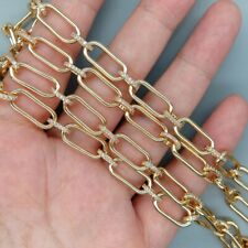 1 meters 8*17mm  Cz pave gold plated link chain for DIY Bracelet & Necklaces