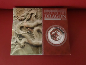 2012 Australian Lunar Year of the Dragon 0.5oz Coloured Proof Coin Boxed COA #A