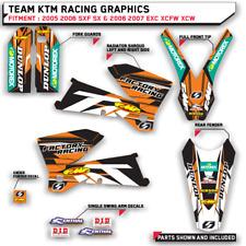 TEAM KTM GRAPHICS 2005 2006 SXF SX & 2006 2007 EXC XCFW XCW MOTOCROSS DECALS