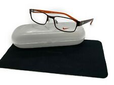 NIKE 5567 210 Satin Brown Rectangular Rx Eyeglasses Frames 48-16 130