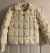 TOMMY HILFIGER Women's Puffer US Ski team jacket OFF WHITE BEIGE COAT Size XL