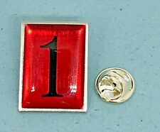 Mercedes Benz Pin Schmuckpin No. 1 Red Stamped Union Made IN USA Mass 20x27mm