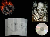 Schablone Step by Step Airbrush Stencil Template Schädel Skull mit Rose & CD