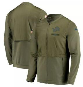 MEN DETROIT LIONS Nike Salute to Service Hybrid Full-Zip Jacket XL