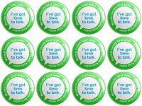 12 x Mental Health First Aider BUTTON PIN BADGES 25mm 1 INCH