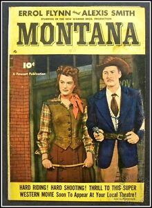 MONTANA Fawcett Warner Bros Movie Comic 1950 Errol Flynn & Alexis Smith G/VG 3.0