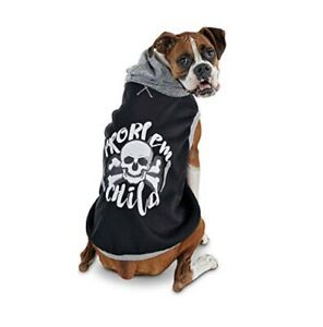 Bond & Co. Problem Child Graphic Dog Hoodie Size Large Skull And Crossbones
