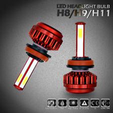 Pair H11 H8 H9 360W LED Headlight Conversion Bulb Light Lamp Kit Xenon 6000K