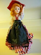 Vintage Hard Plastic Storybook Doll With Open/Close Eyes Arms Move Up & Down