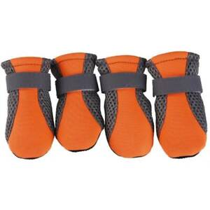 4PCS Pet Puppy Dog Non-Slip Breathable Shoes Boots Paw Protection Booties Small