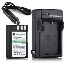 7.4V 2000mAh EN-EL9 EN-EL9A Battery + Charger For Nikon D40X D3X D60 D3000 D5000