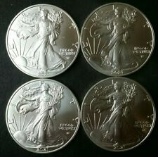 Lot of Four $1 American Silver Eagle Type 2 Dollars