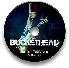 BUCKETHEAD ROCK GUITAR TABS TABLATURE SONG BOOK SOFTWARE CD