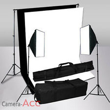 1250W Studioleuchte Softbox Fotostudio Fotolampe + Hintergrundsystem SET