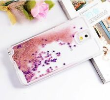 Samsung Galaxy Note 3 -HARD SKIN CASE COVER Flowing Sparkle Liquid Glitter Stars