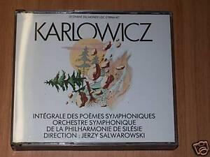CD DOPPIO-KARLOWICZ-POEMES SYMPHONIQUES-CHANT DU MONDE