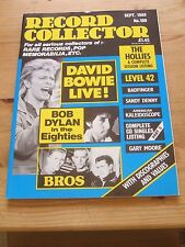 RECORD COLLECTOR #109 - SEPT 1988  Bowie, Dylan, Bros, Hollies, Sandy Denny
