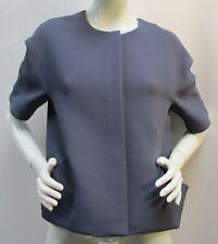 COS Women's Steel Blue Contemporary Oversized Minimalist Jacket Size 12