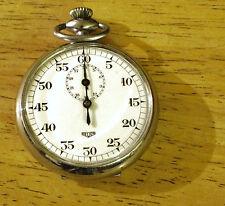 Heuer Stopwatch, Circa 1940's Chronograph, Sharp Design, Stainless Shine