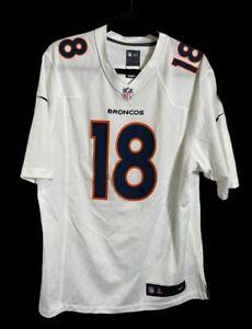 Nike Denver Broncos Peyton Manning White Jersey Size Mens Large