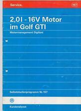 VW SSP  157  2,0l - 16V Motor im Golf GTI Golf 3   Selbststudienprogramm