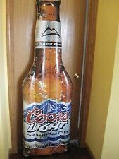 COORS LIGHT BOTTLE SHAPED INFLATABLE POOL FLOAT RAFT NEW