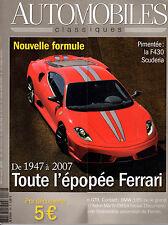 REVUE MAGAZINE AUTOMOBILES CLASSIQUES N°168 12/2007 FERRARI BMW 135 ASTON NISSAN