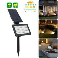 50 LED Solar Power Light Outdoor Garden Lawn Ground Lamps Underground Spotlights