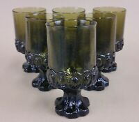 "tiffin franciscan madeira green goblets drinking glasses 5.5"" (set of 6)"