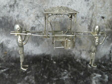 More details for antique chinese solid silver detailed model sedan chair c1900