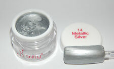 Color Gel UV/CCFL/LED  7ml Metallic Silver n°14 Naility  USA gel de couleurs