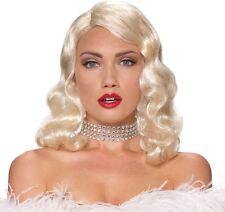 Ladies Blonde Femme Fatale Adults Female Wig Fancy Dress Accessory