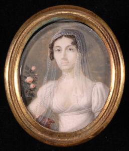 """Portrait of a Lady"", North Italian Miniature, ca. 1810"