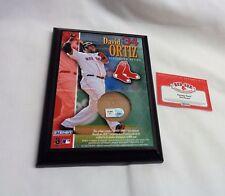Fenway Park Boston Red Sox David Ortiz Field Dirt Game Used Plaque 5x7 FREESHIP