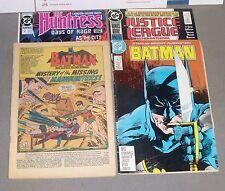 Batman #184 in a lot of 4 comic books, 1966-90, poor-near mint shape, Bob Kane