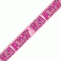 12ft Long Pink Hen Night do For Girl Foil Party Banner Decorations Party Supply