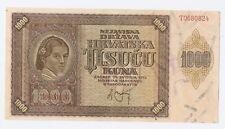 Croatia 1000 kuna 1941 aUNC-UNC!!!