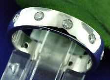 14k Solid White Gold  Eternity Natural Diamond Ring Anniversary Band Wedding