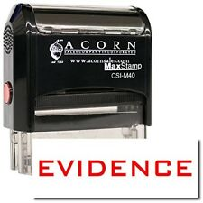 MaxStamp - Self-Inking Evidence Stamp (Black Ink)