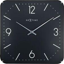 Nextime Horloge Murale Basique Square Dome 35x35cm Silencieux Cuisine Salon