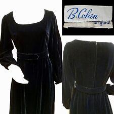 Vintage B. Cohen Black Velvet Maxi Dress - Size M - Euc - Gorgeous!