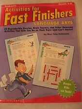 TEACHERS: Activities for Fast Finishers - Language Arts- (Grades 4-8)