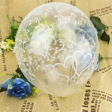 20 Clear Entwined Hearts Helium Air Balloons Wedding Engagement Party Decoration