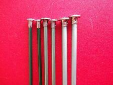 """Aluminum single point knitting needles, 3 sets,  sizes 5, 6 and 10, 14"""" long"""