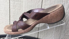 MERRELL Women's Sundial Cross Brown Leather Thong Sandals Size 9