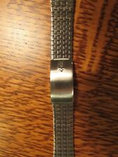 """NOS Accutron Tuning Fork Signed SS WATCH BRACELET 17mm 18mm 19mm 11/16"""""""