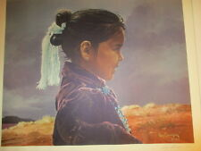 At'Eed Yazhi Ray Swanson Limited Edition  Signed Western Art Print Franklin Mint